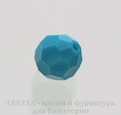 5000 Бусина - шарик с огранкой Сваровски Turquoise 8 мм
