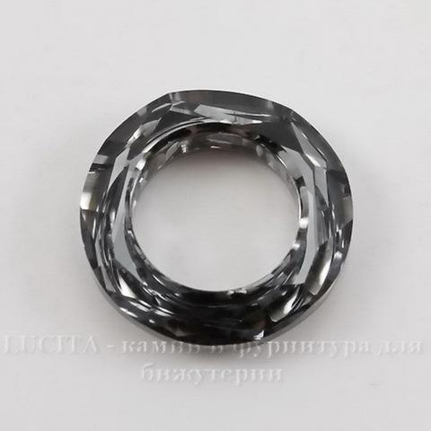 4139 Подвеска Сваровски Cosmic Ring Crystal Silver Night (20 мм) ()