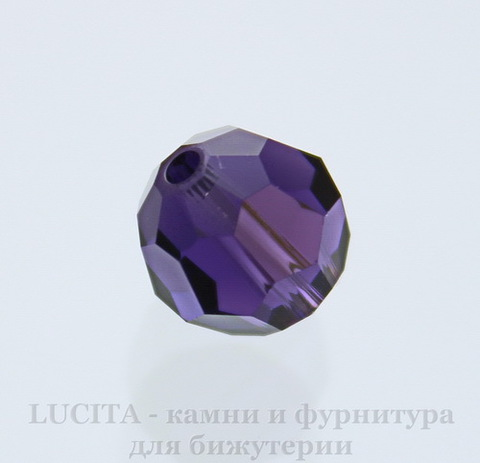 5000 Бусина - шарик с огранкой Сваровски Purple Velvet 8 мм