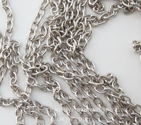 Цепь (цвет - античное серебро) 5х3,5 мм, примерно 10 м