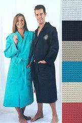 Элитный халат вафельный Sunfish темно-синий от Mirabello