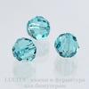 5000 Бусина - шарик с огранкой Сваровски Light Turquoise 10 мм