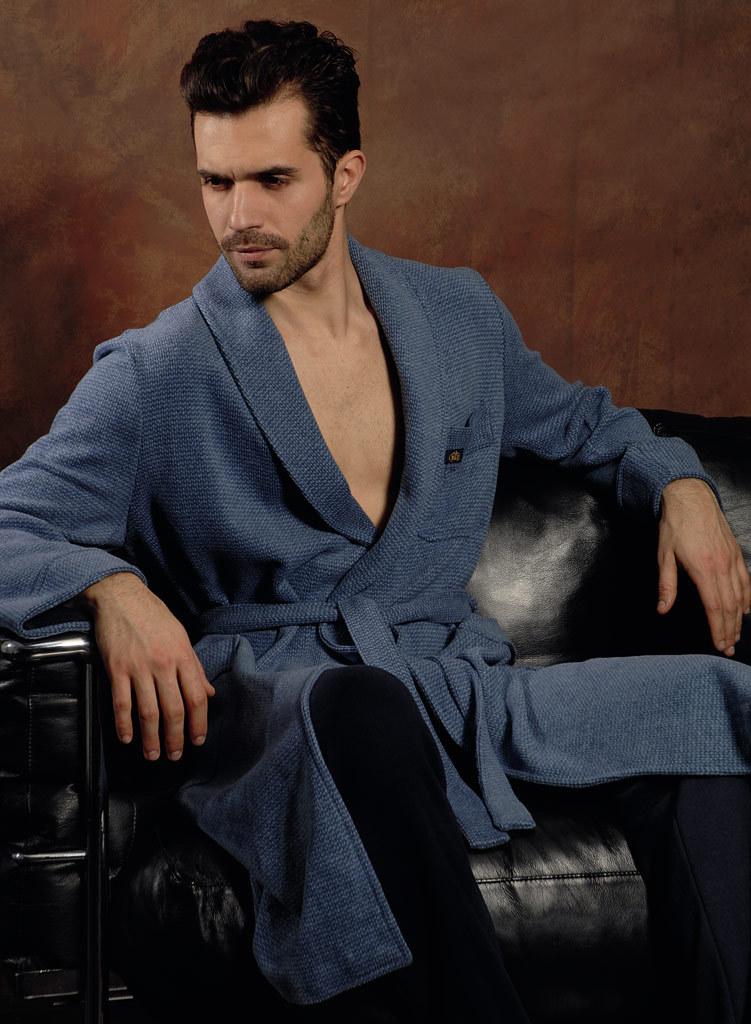 Мужской халат для дома B&B (Мужские халаты)