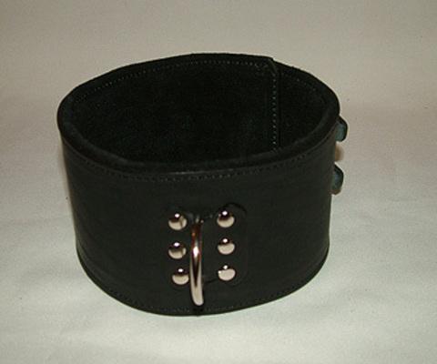 Секс Ошейник для девушки на мягкой подкладке черный