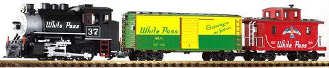 37106 Стартовый набор Грузовой поезд с паровозом White Pass & Yukon с парогенератором и звуковым декодером