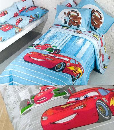 Детское постельное белье Caleffi Cars Due голубое