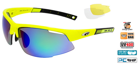 Спортивные очки goggle FALCON race neon yellow/black