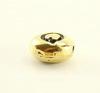 "Бусина овальная TierraCast ""Буква Q"" (цвет-античное золото) 7х6х3 мм"
