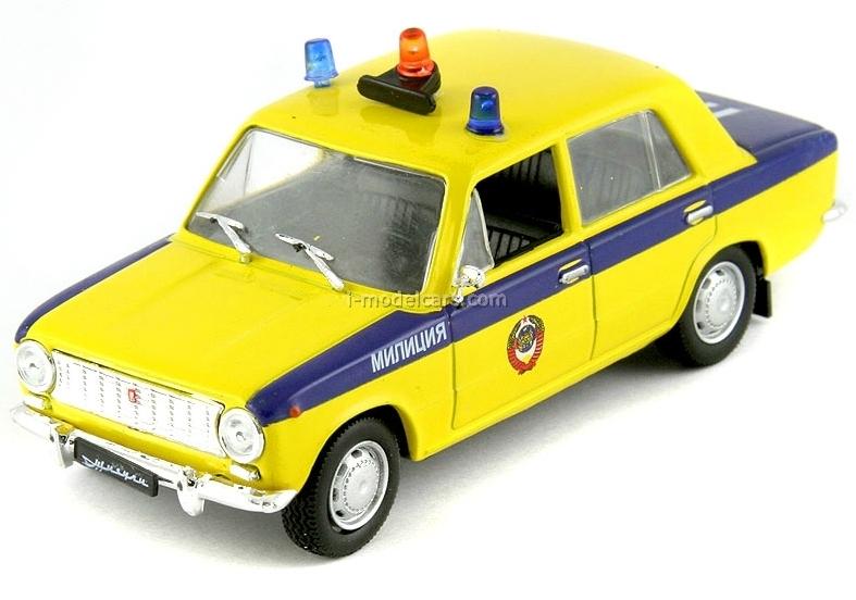 VAZ-2101 Lada GAI Police USSR 1:43 DeAgostini Service Vehicle #18