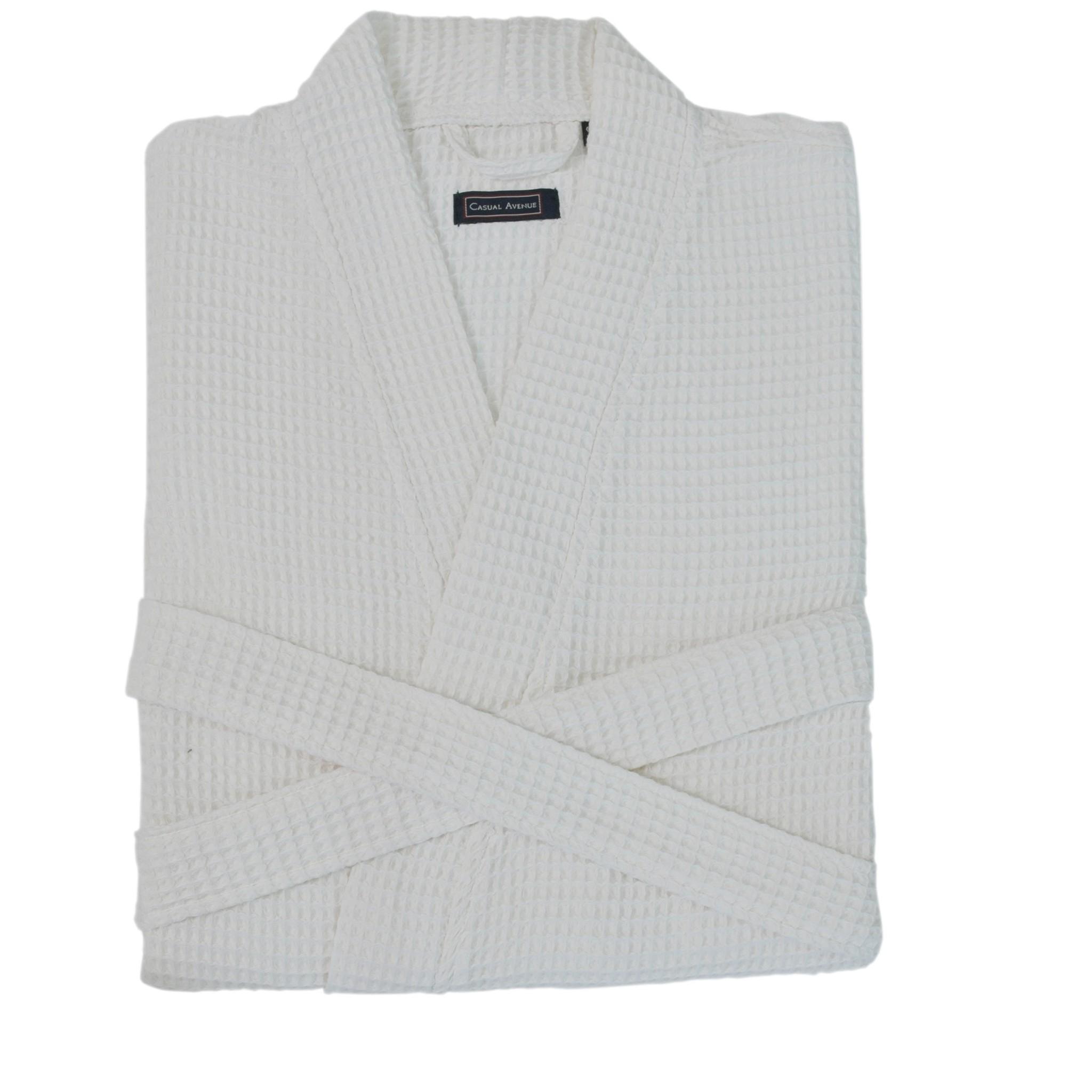 Элитный халат вафельный Long Island белый от Casual Avenue