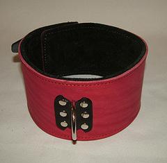 Секс Ошейник для девушки на мягкой подкладке красный