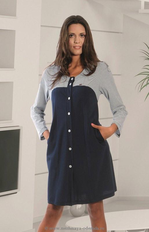Домашний халат на пуговицах Dolce Vita (Женские халаты)