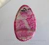 Подвеска Агат Крэкл (тониров) (цвет - бело-розовый + фиолетовый) 50х31х5,3 мм №15