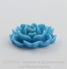 "Кабошон акриловый ""Чайная роза"", цвет - голубой, 18х16 мм"