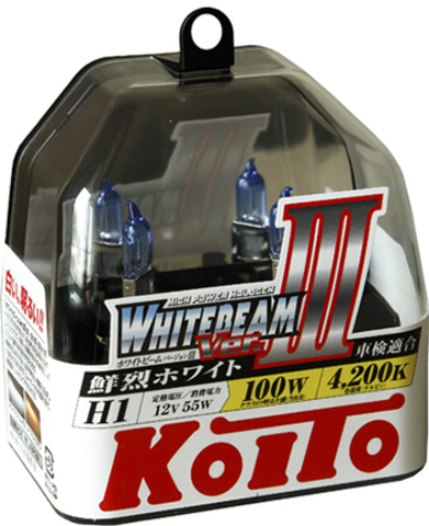 Галогенные лампы KOITO H1 WhiteBeam III (4200K) P0751W