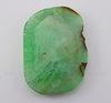 Подвеска Агат (тониров) (цвет - зеленый) 58х41х7,5 мм №11