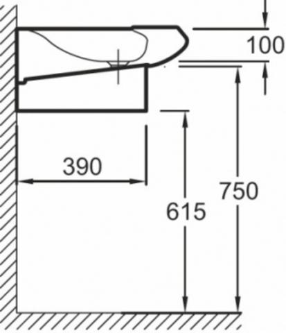 Jacob Delafon Stillness раковина-столешница 120х52 см (E1292)