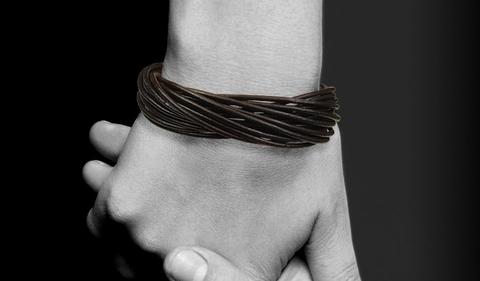 Мужской браслет из кожаного шнура с замочком Steelman mn00419