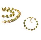 Комплект Amato зеленого цвета (бусы и браслет)