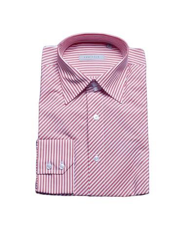 Рубашка Grostyle дл/рукав белая красная полоска