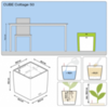 Кашпо CUBE Cottage 40 All-in-One Set (Lechuza)