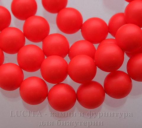 5810 Хрустальный жемчуг Сваровски Crystal Neon Red круглый 10 мм