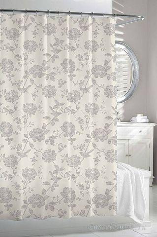 Элитная шторка для ванной Bliss Bird Beige-Grey от Kassatex