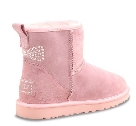 UGG Classic Mini Crystal Bow Pink