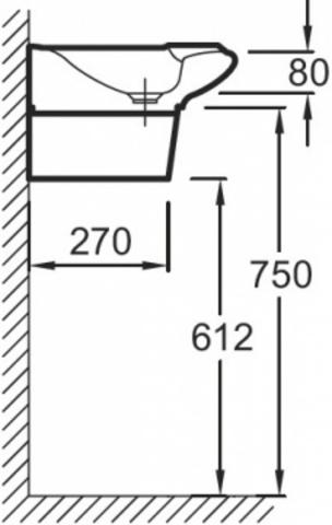 Jacob Delafon Stillness Подвесная раковина (E1300)