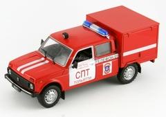 VAZ-2121 Lada Niva VIS-294611 Fire Engine Russia 1:43 DeAgostini Service Vehicle #23