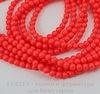 5810 Хрустальный жемчуг Сваровски Crystal Neon Red круглый 4 мм, 10 шт