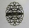 Основа для броши c филигранью 34х26 мм (цвет - античная бронза)