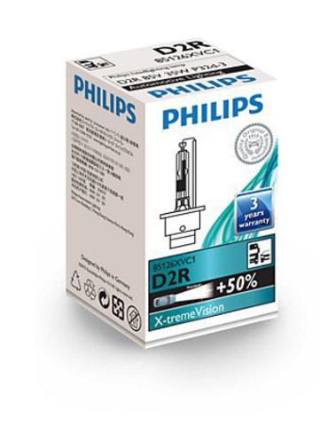 Лампа ксенон D2R (4800К) Philips X-tremeVision (картон)