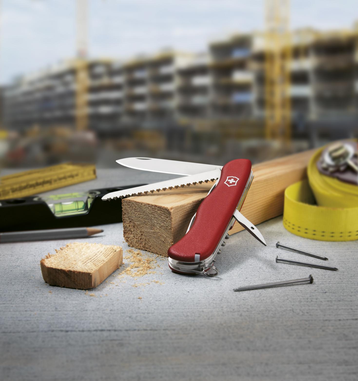 Швейцарский нож Victorinox Rucksack, 111 мм, 12 функ, красный   (0.8863)