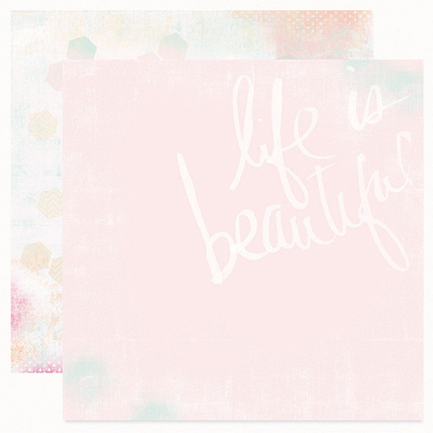Лист двухсторонней бумаги Life is beautiful