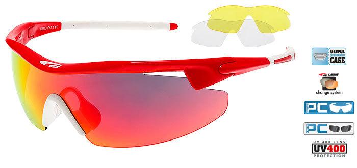 Солнцезащитные очки goggle RAZOR red/white