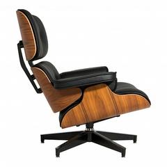 кресло eames lounge ( кожа)