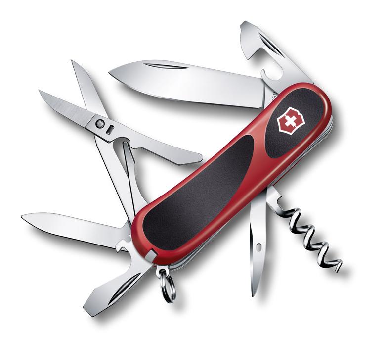 Нож Victorinox EvoGrip 14, 85 мм, 14 функций, красный