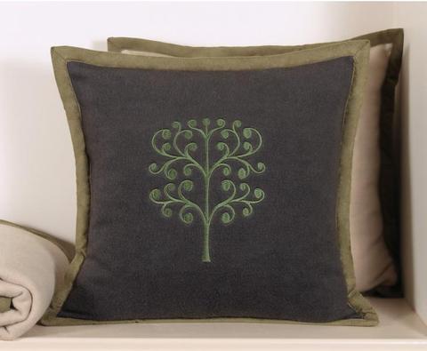 Элитная наволочка декоративная Tree серая от Luxberry