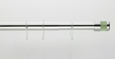 Карниз для ванной комнаты зелёное стекло 120-220 см от Grekon