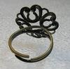 "Основа для кольца ""Ажурный цветок"" (цвет - античная бронза)"