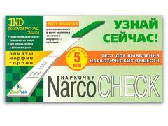 Тест-полоска NARCOCHEСK опиаты/морфин/героин выявления в моче