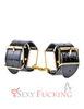 Сексуальные наручники Fetish Fantasy Gold Cuffs черные с золотом