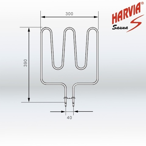 ТЭН Harvia - тэн харвия 1500W ZSK-690 (ZSK690) 230V - нагревательный элемент для печи сауны