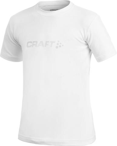 Футболка Craft Light Logo для юниоров белая