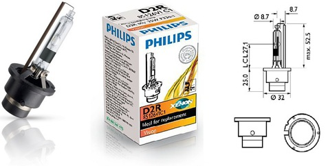 Лампа ксенон D2R (4300К) Philips Vision