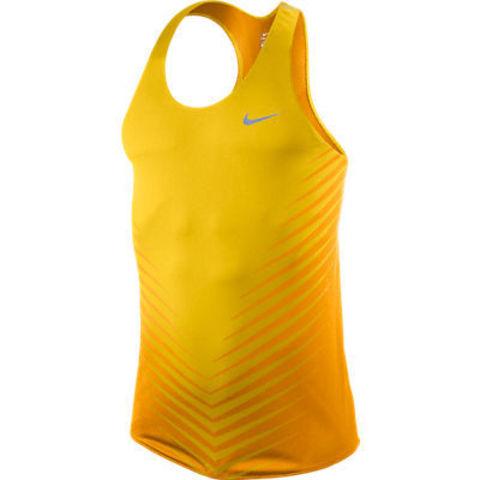 Майка л/а Nike Race Day Singlet жёлтая