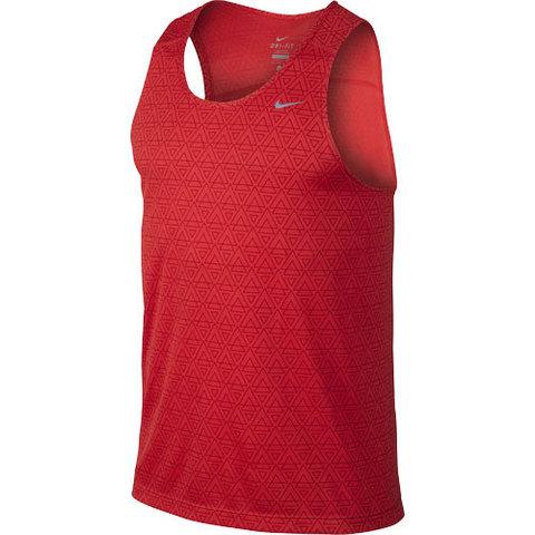 Майка л/а Nike Printed Miler Singlet красная