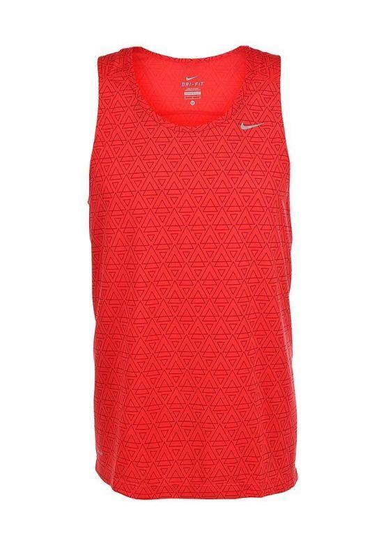 Мужская майка л/а Nike Printed Miler Singlet (619390 696) красная фото