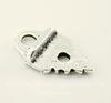 """Концевик для плоского шнура TierraCast """"Листик"""" (цвет-античное серебро) 19х11,5 мм"""